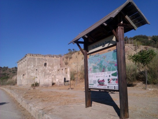 Abandoned trainstations mtb route Via Verde de la Sierra.