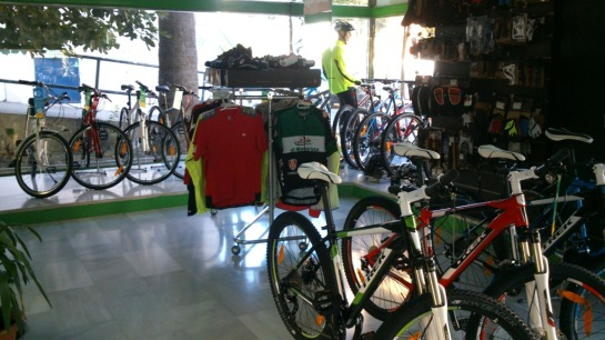 Mtb Shop El Motorista in Algeciras.