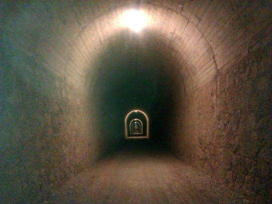 Tunnels for miles. Do not forget your mtb light.