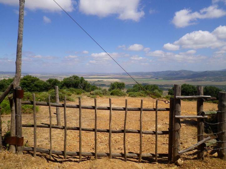 Gate to mtb Paradise Facinas Mountain.
