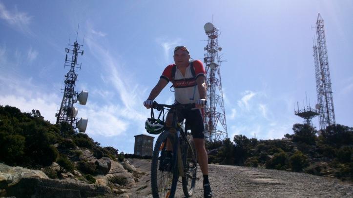 Mark Rus at the Top, enjoying amazing views.