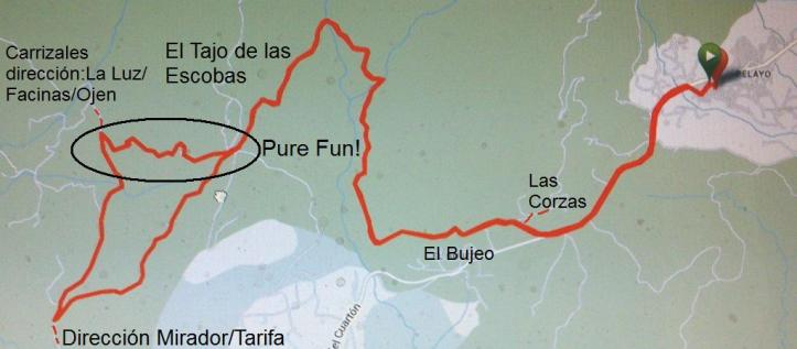 Map discovery mtb tour in Tarifa.