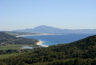 The view of Tarifa seen from Betijuelo.