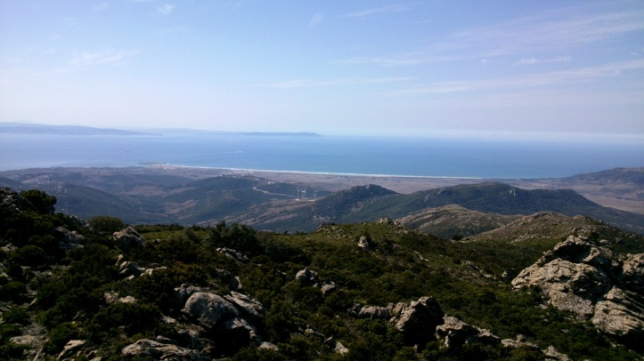 The view on Tarifa and Atlantic Ocean
