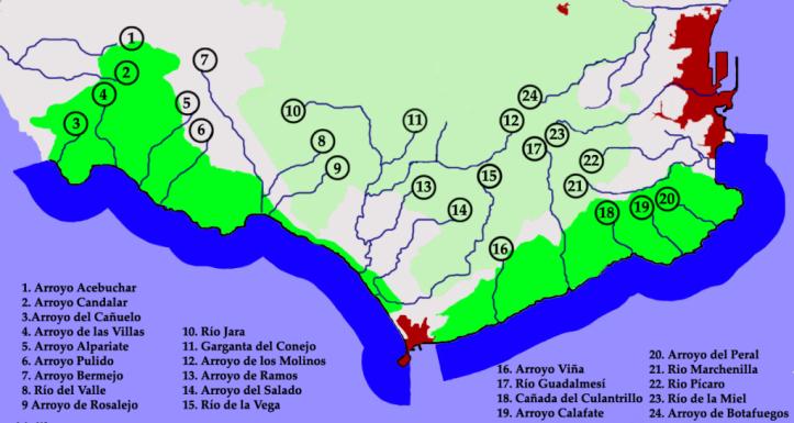 Los rios en el estrecho de Gibraltar. MtbTarifa