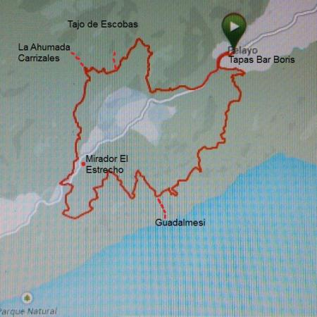 30 km of pure mountain biking.