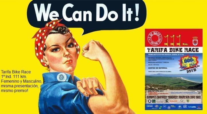 Dia de la Mujer Día de igualdad. Tarifa Bike Race