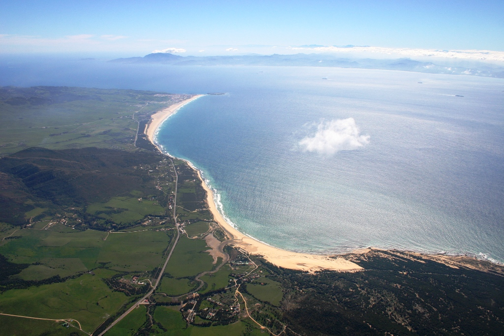 Tarifa at the Strait Of Gibraltar, here is written part of the History of Spain
