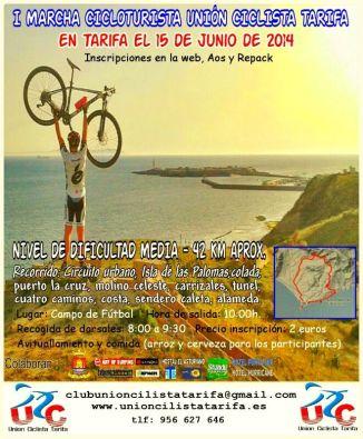 Cartel I Marcha Cicloturista de Unión Ciclista Tarifa