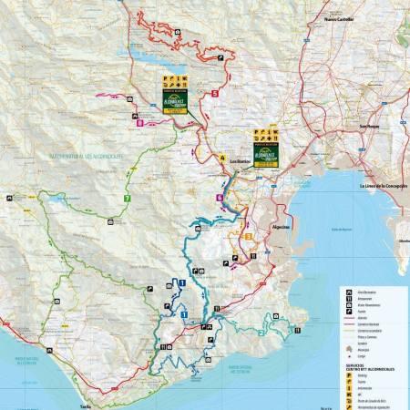 Mapa Rutas Centro Btt Alcornocales