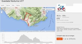 Route Night Ride Union Ciclista Tarifa