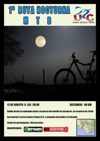 UCT Night Ride Tarifa 12th of August 2014