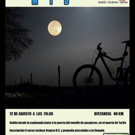 UCT Night Ride Tarifa 12th of August 2014
