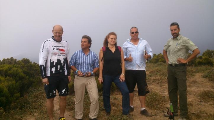 Herbert Neumann, Carlos Núnéz , Nuria Perez, Henk y Esteban.