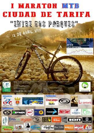 Cartel I Maratón Mtb Cuidad de Tarifa 12 Abril 2015