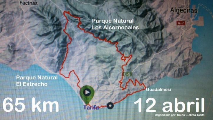 Ruta  I Maratón Ciudad de Tarifa Entre 2 Parques