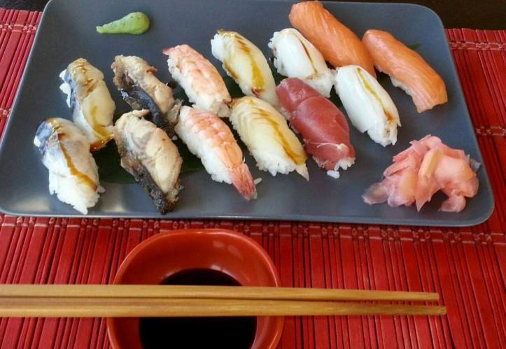 Sushi en Restaurante Banti