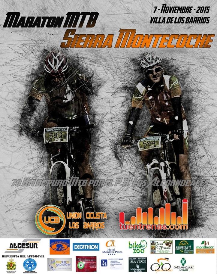Cartel Montecoche Mtb Maratón 2015 en Los Barrios