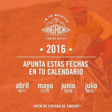 Big Ride Enduro Series Calender 2016
