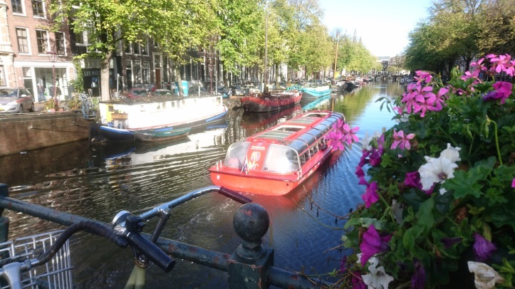 Canal boats of Amstedam